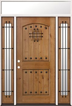 Rustic Knotty Alder Wood Entry with Speakeasy Door Wood Entry Doors, Wood Exterior Door, Entry Foyer, Wooden Doors, Rustic Entry, Front Entry, Rustic Wood, Speakeasy Door, Knotty Alder Doors