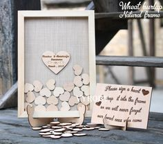 Excited to share the latest addition to my #etsy shop: Burlap wedding guest book alternative Unique wedding guestbook wooden Wedding sign in box Guest book frame Guestbook heart drop box rustic #weddings #beige #burlapwedding #weddingguestbook #bookalternative #uniquewedding #guestbookwooden http://etsy.me/2B7n3TF