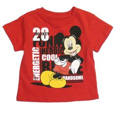 Disney Baby Toddler Boys T-Shirt Mickey Mouse Character Short Sleeve 18M 24M 2T #DisneyBaby #BirthdayEverydayHoliday