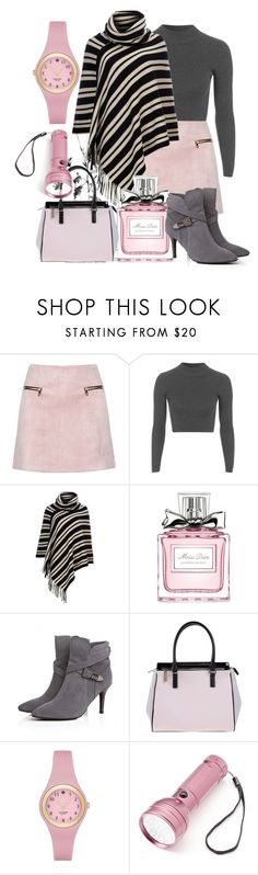 """""""Untitled #151"""" by ghadamfh ❤ liked on Polyvore featuring Topshop, Wallis, Christian Dior, Versace, Kate Spade and Totes"""