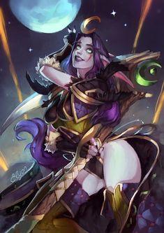 Night elf :: Warcraft Расы :: World of Warcraft :: Warcraft :: Blizzard (Blizzard Entertainment) :: artist :: ragora :: фэндомы Fantasy Art Women, Dark Fantasy Art, Fantasy Girl, Fantasy Artwork, World Of Warcraft, Warcraft Art, Fantasy Character Design, Character Design Inspiration, Character Concept