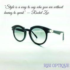 432f7505f768 Stylish eyewear is a must. Anne et Valentin Sunglasses. Risi Optique