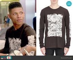 8bfa7e585c2 Hakeem s foil printed long sleeve tee on Empire. Outfit Details  http