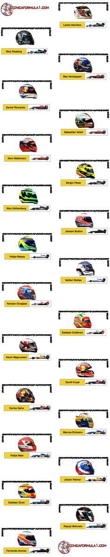 Parrilla de salida provisional y penalizaciones para el GP de Malasia F1 2016  #F1 #MalaysiaGP