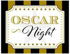 Free Oscar Party Printables | catchmyparty.com