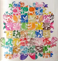 Folhas do Jardim Secreto. Sétimo colorido. #jardimsecreto #folhas