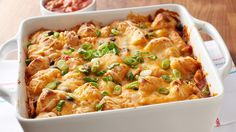 This easy chicken enchilada bake is packed with flavor.