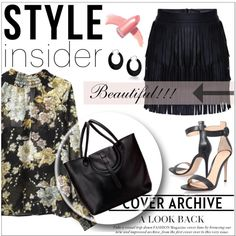 How To Wear Floral & Fringed Outfit Idea 2017 - Fashion Trends Ready To Wear For Plus Size, Curvy Women Over 20, 30, 40, 50
