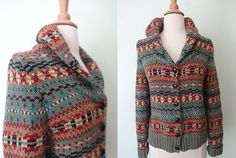 Granddad's Pipe // Vintage Button Up Sweater by KittyHawVintage, $34.00