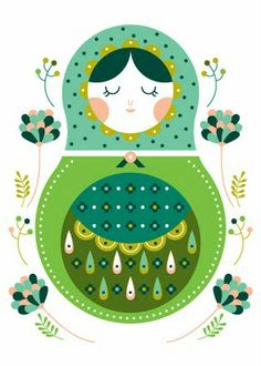 mamushka - would make a beautiful badge or embroidery