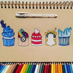 I thought this pin was cute and funny. All of these visual media platforms are transformed into a cupcake that mimics the visual of each media app. If you ever wonder what these apps would look like as cupcakes, here you go! Cute Disney Drawings, Cute Drawings, Amazing Drawings, Beautiful Drawings, Social Media Art, Cupcake Drawing, Illustrator, Art Drawings Sketches, Medium Art