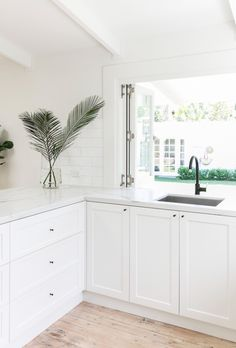 Gorgeous White Kitchen Cabinet Design Ideas - Page 96 of 269 Kitchen Cabinet Design, House, Home, White Beach Houses, Hamptons Kitchen, House Interior, Home Kitchens, White Shaker Cabinets, Kitchen Renovation