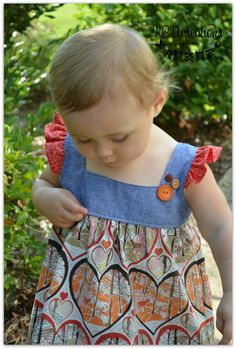 Fall Tunic or Dress in Lovely Dear Stella Print by KCDcreations, $30.00