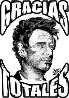Ilustración de Gustavo Cerati en Adobe Illustrator CC