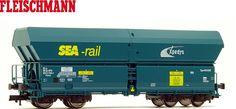 Fleischmann H0 552313 Großraum-Selbstentladewagen  SEA-rail  - NEU + OVP