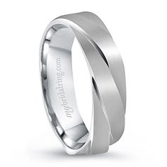 Unique Design Engagement Ring and Wedding Bands For Men In 14K White Gold - OUR PRICE: $879.99 - http://www.mybridalring.com/Mens/unique-design-engagement-ring-in-14k-white-gold/