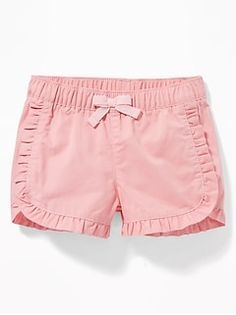 Old Navy Ruffled Twill Pull-On Shorts for Baby Girls Clothes Shops, Girls Fashion Clothes, Baby Girl Fashion, Kids Fashion, Baby Girl Dress Patterns, Baby Clothes Patterns, Baby Dress, Kids Summer Dresses, Toddler Girl Dresses
