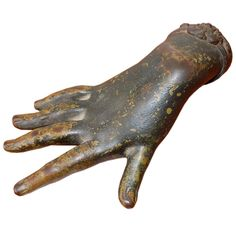 hand paperweight. Late 19th century. Bronze.