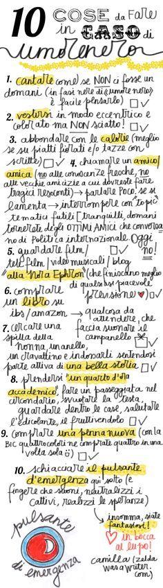 Learning Italian - cose da fare in caso di umore nero (things to do when you are in a bad mood)