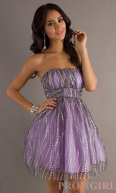 Short Strapless Dress