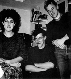 Gilliam Gilbert, Stephen Morris and Bernard Sumner