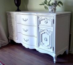 White French Provincial  Ornate Buffet Cabinet Server by Bassett