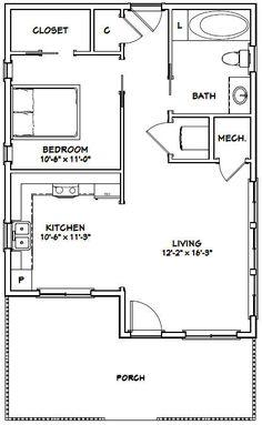 24x32 House 24x32h2a 725 Sq Ft Excellent Floor Plans