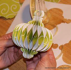 Honeycomb ornament instructions using Cricut Paper Trimmings Cart  http://shesasassylady.blogspot.com/2011/12/honeycomb-ornament.html