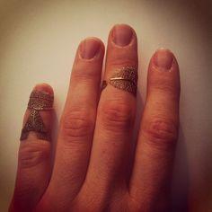 Ring Design by Merve Özdemir Leaf Ring: 2014  Formed and burned metals