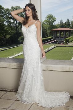 Lace sheath wedding dress from Mary's Bridal - Couture D'Amour.
