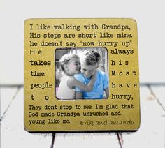 Grandpa Gift Grandpa Frame Grandfather Gift by ThePictureFrameShop