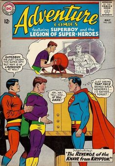 Adventure Comics New DC Silver Age Collection. Over 50 comics listed, combined shipping available! Old Comic Books, Comic Book Artists, Comic Book Covers, Comic Book Heroes, Planet Comics, Children's Comics, Legion Of Superheroes, Superman Comic, Superman Artwork