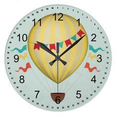 Hot air balloon clock.