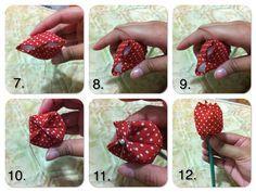 Como fazer tulipa de tecido