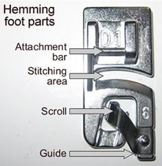 Using a hemming foot. Crisp, clear photos with directions AND troubleshooting info.