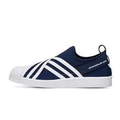 White Mountaineering X Adidas Superstar Slip On BY28793 Navy Blue  http://www.