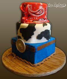 BABY COWBOY | cowboy cake, western cake, rope cake, bandana cake, cowhide cake, cow ...