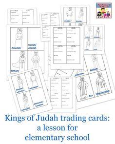 kings of Judah trading cards