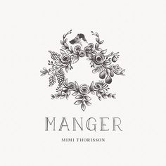 oh this is lovely   logo, floral wreath, flowers, line art, black and white, minimalist, minimalism, minimal, simplistic, simple, modern, contemporary, classic, classy, chic, girly, fun, clean aesthetic, bright, white, pursue pretty, style, neutral color palette, inspiration, inspirational, diy ideas, fresh