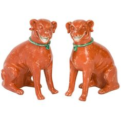 Pair of Chinese-Expoert seated Dogs