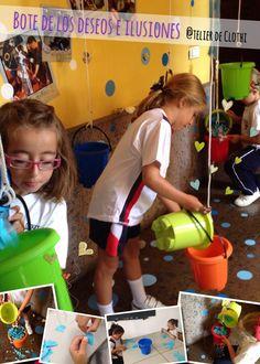 En @RealejosNazaret rellenamos con papelitos rasgados los botes, luego escribiremos nuestros deseos e ilusiones para este nuevo curso escolar y los colocaremos dentro de los botes. Y… ¿Qué deseas...