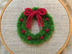 Today I am going to show you how to stitch a plushwork wreath for the holidays!   For best results - I highly suggest tapestry wool.  ...