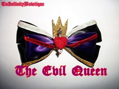 Hey, I found this really awesome Etsy listing at https://www.etsy.com/listing/165168792/the-evil-queen-disney-bow