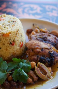 Moroccan Chicken Stew with Vegetable Couscous, Scrumpdillyicious