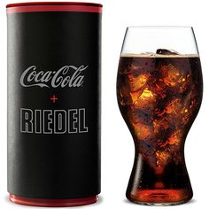 The Coca Cola + Riedel Glass , Inspired by the iconic curves of the original Coca-Cola contour bottle, this glass is designed to enhance the drinking experience.