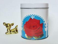 Rare Vintage Cylindrical Cadbury Roses Chocolate Tin by EdenKitsch