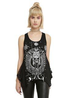 Jawbreaker Cosmic Skeleton Crochet Skull Girls Tank TopJawbreaker Cosmic Skeleton Crochet Skull Girls Tank Top,