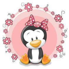 Greeting card cute cartoon Penguin with flowers Clipart Baby, Cute Clipart, Cute Cartoon Girl, Baby Cartoon, Cartoon Pics, Tattoo Painting, Belly Painting, Cute Images, Cute Pictures