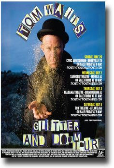 Tom Waits Glitter and Doom poster concert $9.84