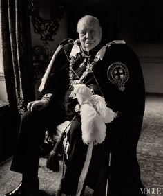 Vogue, March 1, 1965  Sir Winston Churchill    Photographed by Toni Frissell